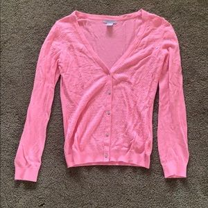 ☀️ H&M pink cardigan sweater with angora